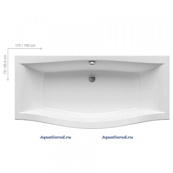 Ванна акриловая Ravak Magnolia 180x75/85,5