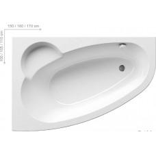 Ванна акриловая Ravak Asymmetric 160x105 L левая