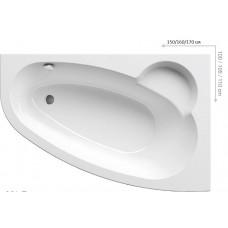 Ванна акриловая Ravak Asymmetric 150X100 R правая