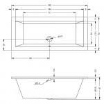 Ванна акриловая Riho Lusso 160x70 см