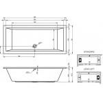 Ванна акриловая Riho Lusso 200x90 см