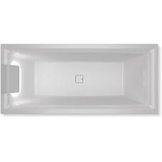 Ванна акриловая Riho Still Square 180x80 см светодиоды и подголовник слева в комплекте BR0100500K00131