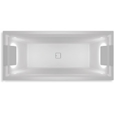 Ванна акриловая Riho Still Square 180x80 см светодиоды и подголовник с размещением на двух сторонах в комплекте BR0100500K00132