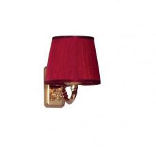 Светильник 3009/M/ORO цвет золото плафон красный