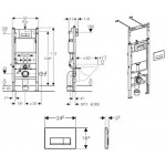 Инсталляция для унитаза Geberit Duofix Платтенбау 458.125.21.1 с кнопкой смыва (4 в 1)