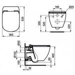 Сиденье Ideal Standard Tesi ультратонкое с микролифтом T352701