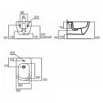 Биде подвесное Ideal Standard Tesi со скрытым креплением T355201