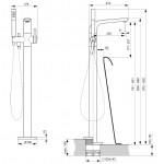 Смеситель Ideal Standard Melange напольный для ванны и душа хром A6120AA