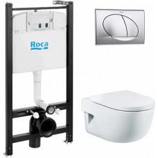 Инсталляция Roca в комплекте с унитазом Meridian c сиденьем микролифт и кнопкой ПЭК 893104110
