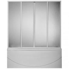 Шторка для ванны BAS Кэмерон 1,2 м 3 створки стекло