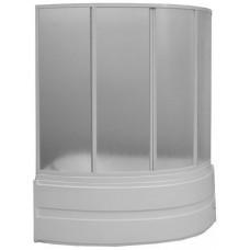 Шторка для ванны BAS Фэнтази 1.5 м 4 створки пластик