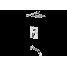 Душевая система Megabreeze встраиваемя на 2 источника с изливом и верхним душем ВДС-121