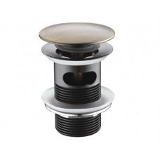 Донный клапан WasserKraft Push-up светлая бронза A046