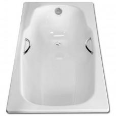 Ванна стальная BLB Atlantica HG 180х80 см с отверстиями для ручек, толщина 3,5 мм, с шумоизоляцией