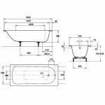 Ванна стальная Kaldewei Eurowa Form Plus 160х70x39 см 2,3 смм