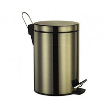 Ведро для мусора 5л WasserKraft с педалью светлая бронза K-645