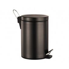 Ведро для мусора 5 л WasserKraft с педалью темная бронза K-655