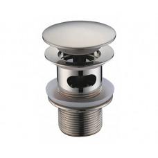 Донный клапан WasserKraft Push-up хром матовый A073