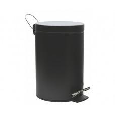 Ведро для мусора WasserKraft K-635 Black с педалью черное 5 л