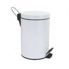 Ведро для мусора WasserKraft K-635 White с педалью белое 5 л