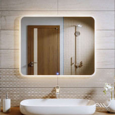 Зеркало Alavann Vanda-35 90 см со встроенной подсветкой