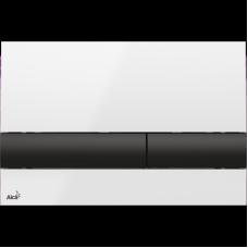 Клавиша для инсталляции AlcaPlast белая, черная M1710-8