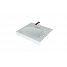 Раковина Andrea Comfort 600х550 для установки над стиральной машиной 4680028070337