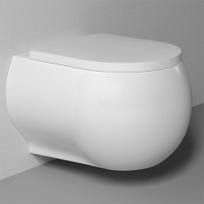 Унитаз подвесной Bien Flash безободковый с сиденьем микролифт FLKA052N1VP0W3000