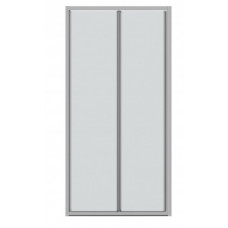 Дверь в нишу Bravat Line 100x200 складная, прозрачное стекло BD100.4121A
