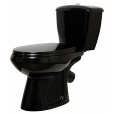 Унитаз-компакт Элисса c косым выпуском, с сиденьем микролифт, черный