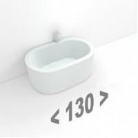Стальные ванны длиной 130 см