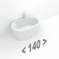 Стальные ванны длиной 140 см