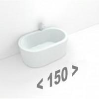 Стальные ванны длиной 150 см