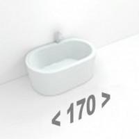 Стальные ванны длиной 170 см