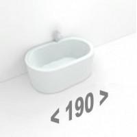 Акриловые ванны длиной 190 см