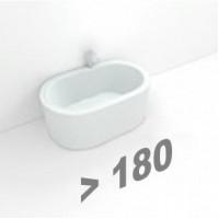 Стальные ванны длиной 180 см