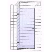 Душевые двери в нишу одностворчатые