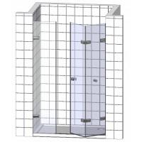 Душевые двери в нишу складные, складывающиеся гармошкой