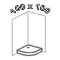 Душевые поддоны 100х100, поддоны 100 на 100 для душа
