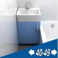 Мебель для ванной комнаты ширина от 40 до 50 см