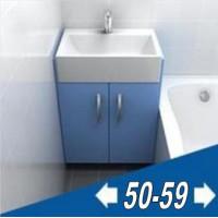 Мебель для ванной комнаты ширина от 50 до 60 см