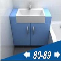 Мебель для ванной комнаты ширина от 80 до 90 см