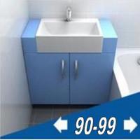 Мебель для ванной комнаты ширина от 90 до 100 см