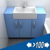 Мебель для ванной комнаты ширина от 100 см и больше