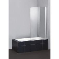 Душевая шторка на ванну BelBagno SELA-V-1-80/140-C-Cr распашная прозрачное стекло