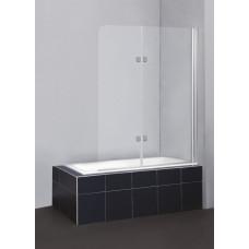 Душевая шторка на ванну BelBagno SELA-V-21-120/140-C-Cr распашная прозрачное стекло