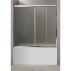 Душевая шторка на ванну BelBagno UNO-VF-2-150/145-C-Cr раздвижная прозрачное стекло